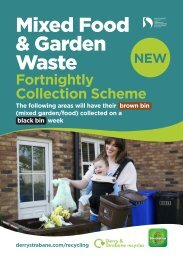 Mixed food and garden waste fortnightly collection scheme