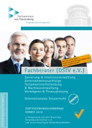 fachberater (DstV e.V.) - beim Steuerberaterverband Thüringen eV