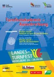 Ausschreibung Turnfestakademie - Badischer Turner Bund