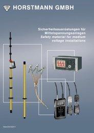 Sicherheitsausrüstungen für Mittelspannungsanlagen Safety ...