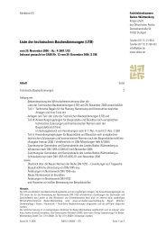 Liste der technischen Baubestimmungen (LTB) - Hier finden Sie ...