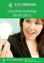 Leuchtenkatalog 2010/2011 - Eichmann Elektrofachgroßhandel Gmbh