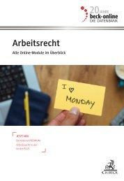 beck-online Arbeitsrecht