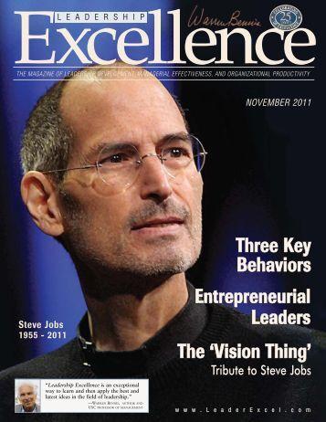 The 'Vision Thing' Behaviors Three Key Leaders ... - John Renesch