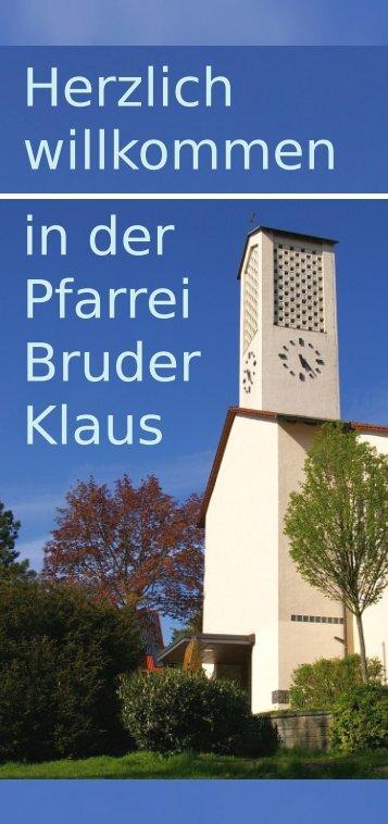 Herzlich willkommen - Pfarrei Bruder Klaus Gundelfingen