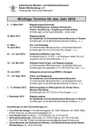 Wichtige Termine für das Jahr 2012 - Deutsches Katholisches ...