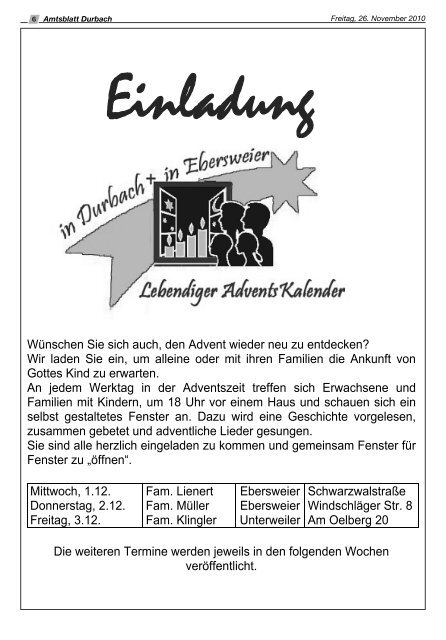 28. November 2010 - Durbach