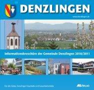 Informationsbroschüre der Gemeinde Denzlingen 2010/2011