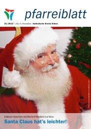 Santa Claus hat's leichter! - Katholische Kirchgemeinde Kriens