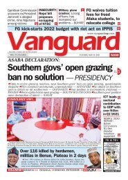 25052021 - Southern govs' open grazing ban no solution — PRESIDENCY