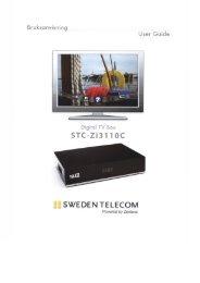 Bruksanvisning TV Box - Fiberprojektet