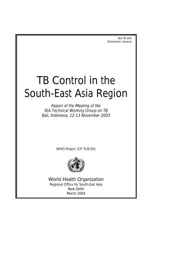 TB Control in the South-East Asia Region