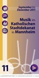 September bis Dezember 2011 - Kath. Bezirkskantorat