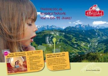 Paradiesische Sommertraume von bis 99 ... - Kinderhotel Ellmauhof