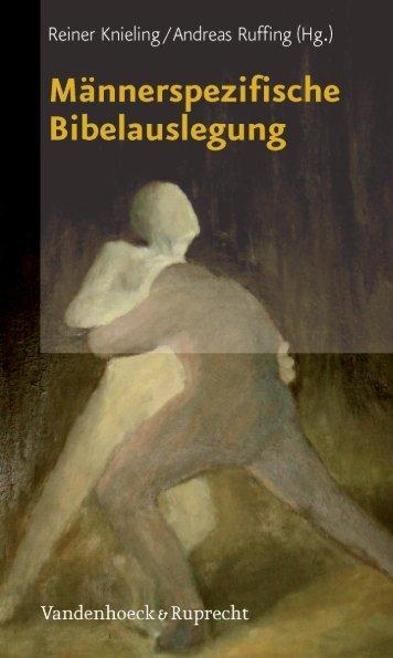 Männerspezifische Bibelauslegung - Vandenhoeck & Ruprecht