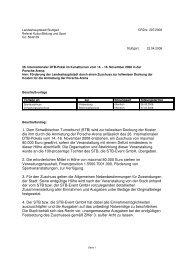 1. Dem Schwäbischen Turnerbund (STB) wird zur teilweisen ...