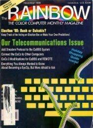 The Rainbow Vol. 08 No. 04 - November 1988 - TRS-80 Color ...