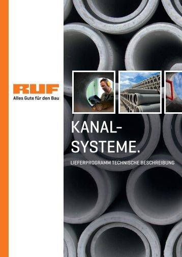 KANAL- SYSTEME. - RUF Baustoffe
