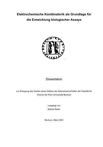 Elektrochemische Kombinatorik als Grundlage für die Entwicklung ...