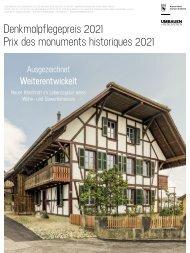 Denkmalpflegepreis 2021