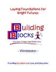 Building Blocks Wimbledon Prospectus