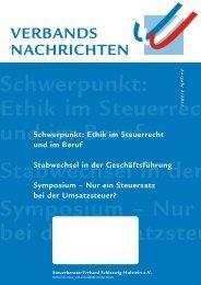 Verbands nachrichten - Steuerberaterverband Schleswig-Holstein e.V.