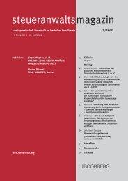 steueranwaltsmagazin 2 /2008 - Wagner-Joos Rechtsanwälte