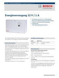 Energieversorgung 12 V / 1 A - Bosch Security Systems