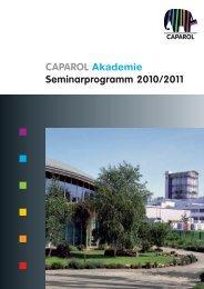CAPAROL Akademie Seminarprogramm 2010/2011
