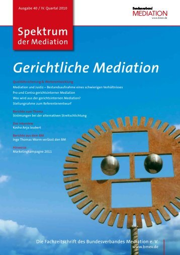 Spektrum der Mediation 40 - Bundesverband Mediation eV