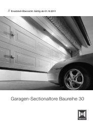 Garagen-Sectionaltore Baureihe 30 - Hörmann KG