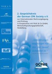 2. Gesprächskreis der German CPA Society e.V.