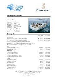 Preisliste Oceanis 45 - Segel Sport Resch