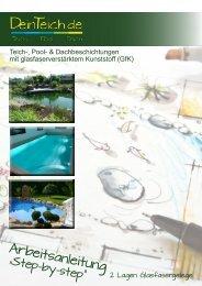 Arbeitsanleitung Teich-, Pool- und Dachbeschichtung mit GfK   DeinTeich.de