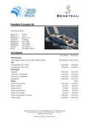 Preisliste Oceanis 58 - Segel Sport Resch