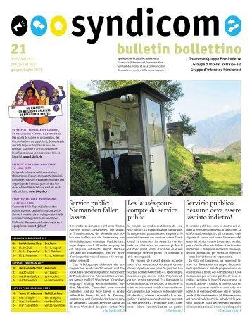 syndicom Bulletin / bulletin / Bollettino 21