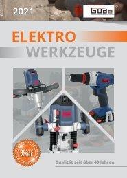 Güde Elektro Akku Geräte Werkzeuge Katalog 2021
