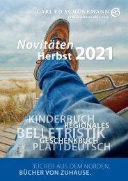 Novitäten Herbst 2021 – Verlagsvorschau – Carl Ed Schünemann