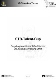 STB-Talent-Cup Bereich Technik