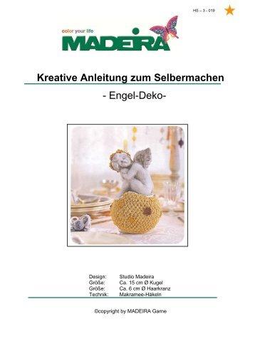 Kreative Anleitung zum Selbermachen - Engel-Deko- - Madeira Garne