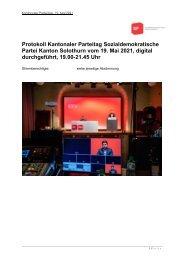 Bericht & Protokoll Parteitag