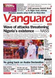 27052019 - Wave of attacks threatening Nigeria's existence — NASS