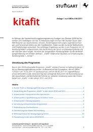 Umsetzung des Programms - Landeshauptstadt Stuttgart