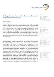 Gravenbrucher Kreis 080910 Stellungnahme zum ...