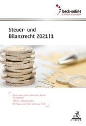 beck-online Steuer- und Bilanzrecht 2021