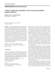 Feature tracking and matching in video using programmable ...