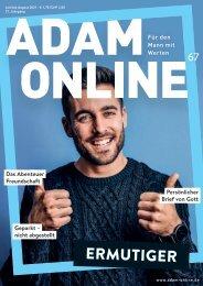 Adam online Nr. 67 Kurzversion