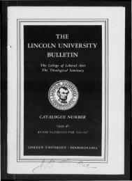 1 - Lincoln University