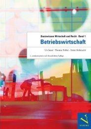 Leseprobe: Saxer/Tobler/Rüfenacht: Basiswissen Wirtschaft und Recht, Band 3. BETRIEBSWIRTSCHAFT