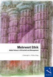 Leseprobe:Christoph A. Weber-Berg: Mehrwert Ethik